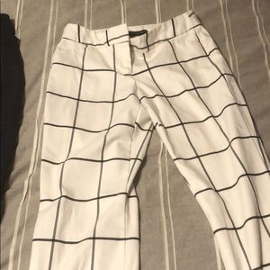 Plaid business casual pants
